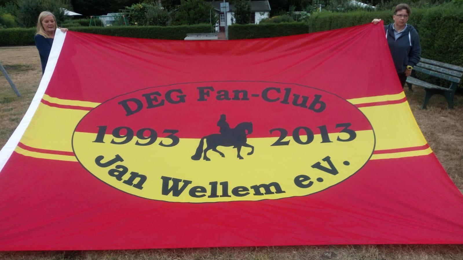 Neue Fahne DEG Fanclub Jan Wellem